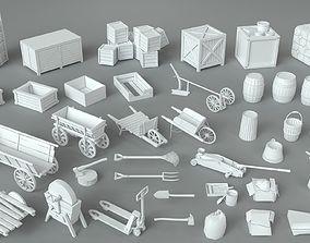 3D model Environment Units-part-3 - 39 pieces