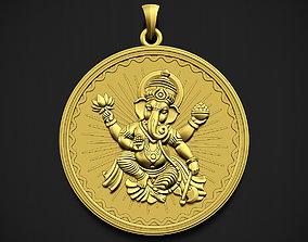 Ganesha Style 2 Pendant 3D printable model