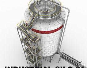 Industrial silo 01 3D model