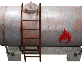 Oil Tanker Game Ready - Low Poly 3d Model low-poly