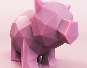 Little Pig Low Poly 3D model game-ready