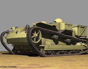Renault UE Chenillette tankette 3D model
