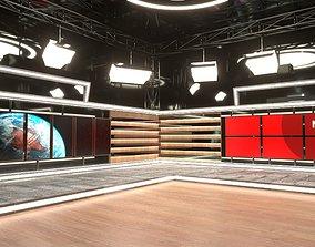Virtual Broadcast Studio 3D model microphone