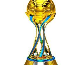 3D Football Soccer Cup Trophy