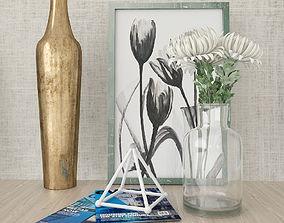 Decorative Elements Set vase 3D model