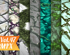 Stylized Ground Vol 47 - Hand Painted Texture 3D asset