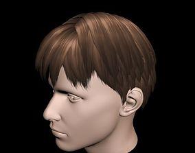3D Haircut No 3 - Short Brown Hair for Man