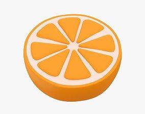 3D Orange slice stylized