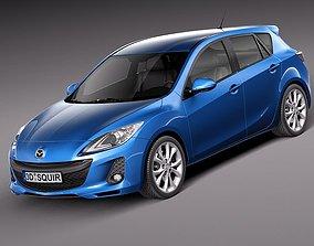 Mazda 3 hatchback 2012 european 3D Model