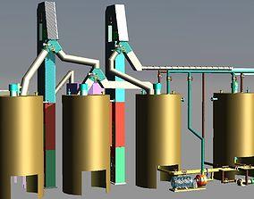 Production of rubber dense - mixer compartmen 3D