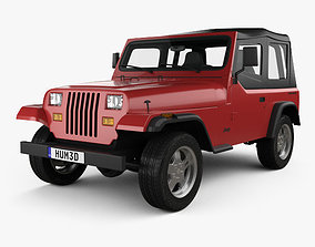3D model Jeep Wrangler YJ 1987