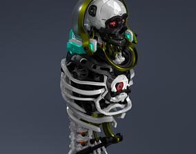 Man robot body 3D