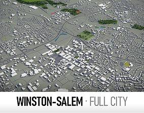 3D model Winston-Salem - city and surroundings