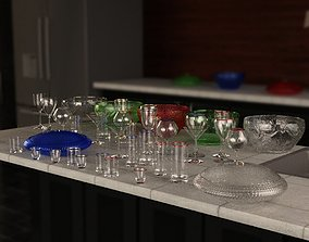 3D model Glassware Collection for Iray