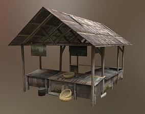 Traditional Market 3D asset