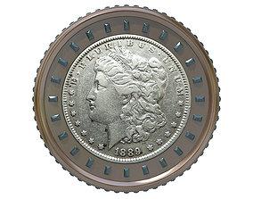 safe Digital Currency Coin - 600 BTC 3D