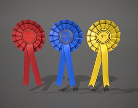 3D asset Rosette Badge - 1st - 2nd - 3rd Pack