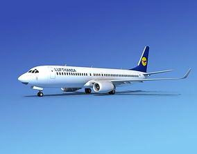 3D model Boeing 737-800ER Lufthansa
