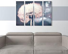 Printed Canvas - Dandelion Flower 3D asset