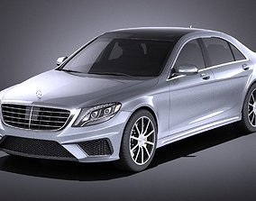 3D Mercedes-Benz S-Class S63 AMG 2016 VRAY