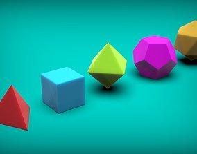 3D printable model Platonic Solids