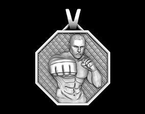 PENDANT MMA Mixed Martial Arts 3D print model