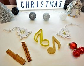 Musical Note Cookie Cutter 3D printable model