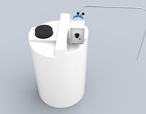 3D asset VR / AR ready Chemical tank with emec dosing pump