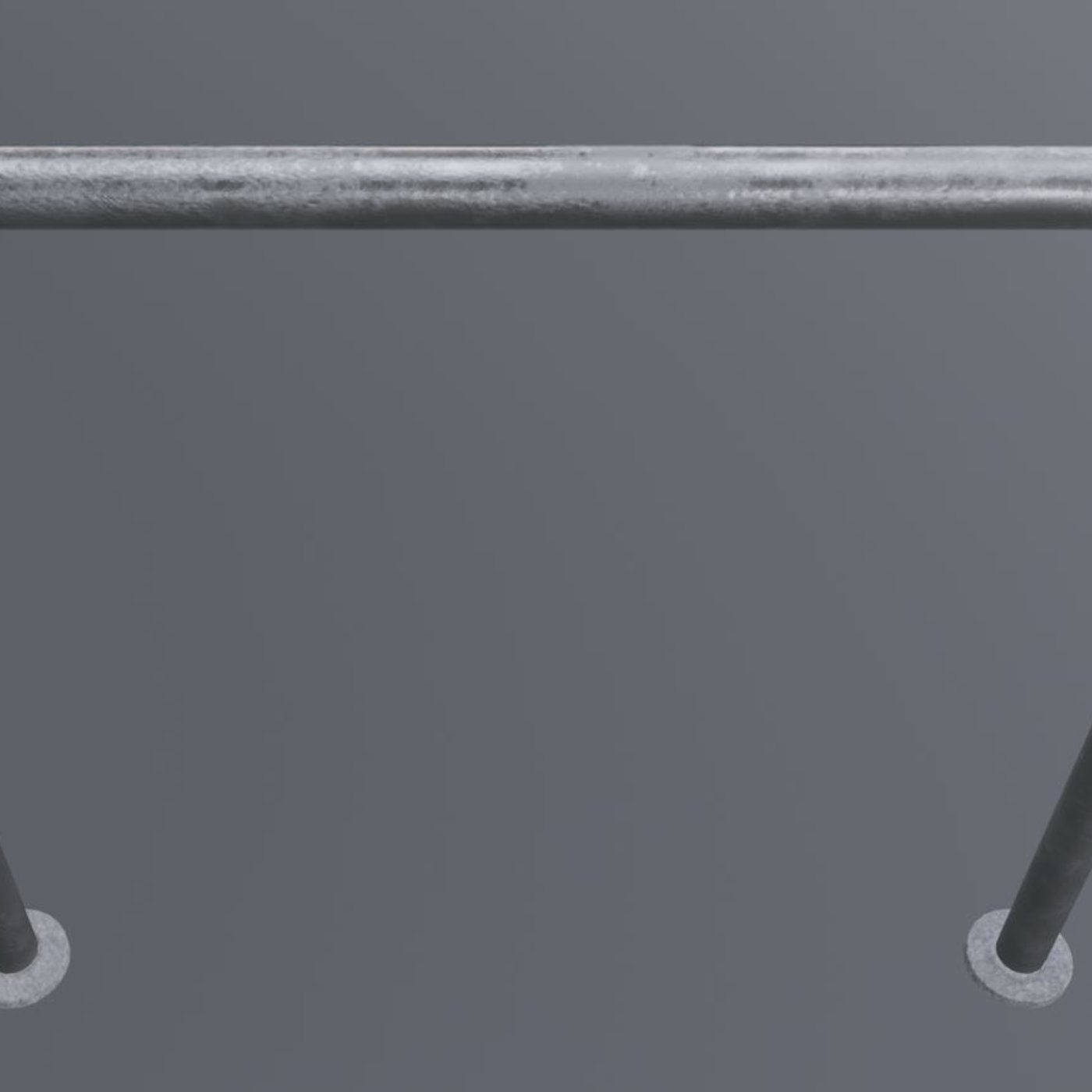 Steel Bracket Bike Stand -3- Low-Poly Version