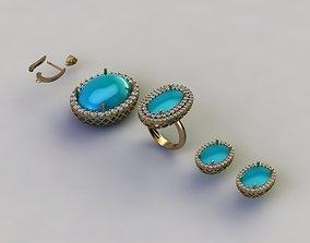 turquoise set 3D print model