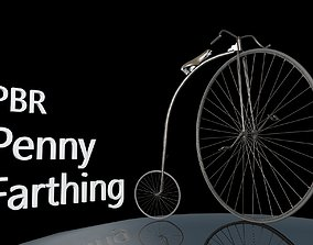Penny Farthing - PBR 3D