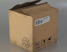 Cardboard box carton 3D