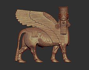 3D printable model Assyrian Human headed winged bull