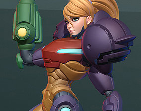 Samus Aran Armored Figurine 3D Print Model