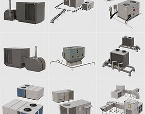 Roof Top Air-conditioner collection 8 models building 3D