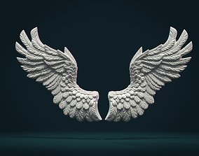 Wings Relief II 3D printable model feather
