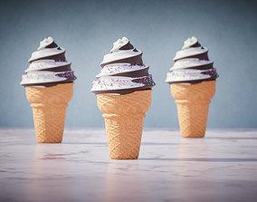 Choco Ice cream with nice isolation 3D model
