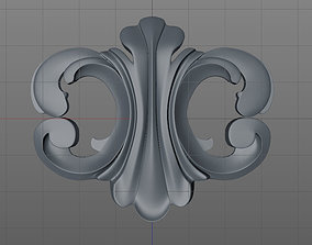 3D printable model floral ornament 2
