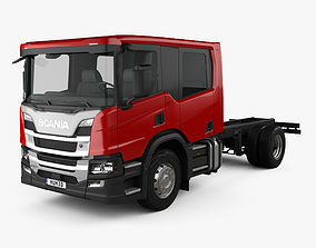 3D Scania P Crew Cab CP28 Chassis Truck 2017