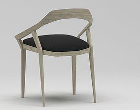 Modern wooden outdoor chair 3D model