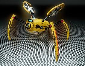 3D asset Sci fi Drone