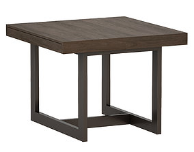 Archive Square Extension Dining Table Crate and 3D asset