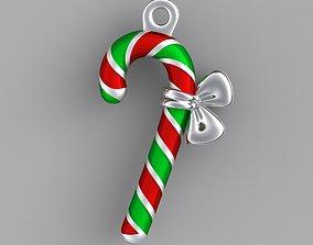 3D print model Candy cane enamel pendant