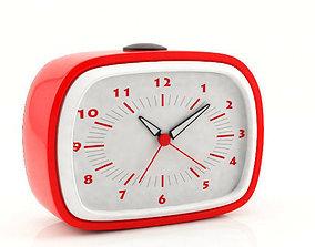 Plastic Alarm Clock 3D model