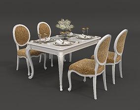 3D European Style Dinning Table 3