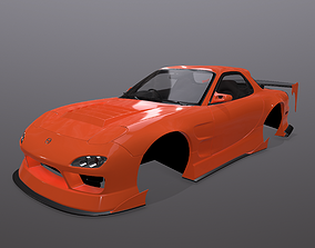 Mazda RX-7 BN-Sports bodykit 3D model