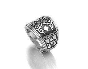 3D print model Special men ring