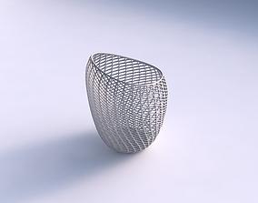 Bowl Spheric Lattice with fine 3D printable model 2