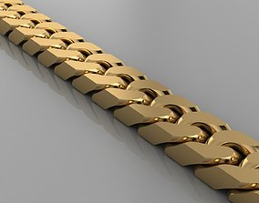 Miami cuban link chain bracelet 0143 3D printable model