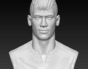 Neymar bust - 3D sculpture handmade 3D print model